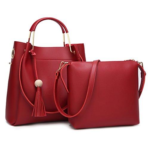 YYW Shoulder Bag, Borsa a mano donna red 2