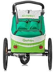 Qeridoo Verdeck Oberteil für Fahrradanhänger ab 2017 - KidGoo1, Farbe:green