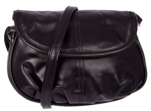 ND20113 Schultertasche NEW BAGS klein (Schwarz) (Disco Handtasche)