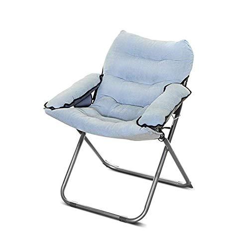 QQXX CJC Liegestühle Sofa Longue Chair Deck Chaise Folding Runde Strong Moon Rot Schwarz (Farbe: SCHWARZ) - Osmanischen Folding Schwarz