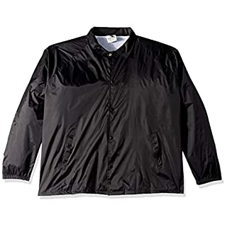 Augusta Sportswear Men's Nylon Coach's Jacket/Lined, Black, Medium