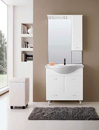 LIBEROSHOPPING.eu - LA TULA CASA IN UN Click Mobile Bagno Ivana mit Spiegel weiß glänzend 85 cm