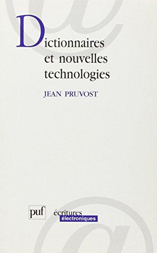 Dictionnaires et nouvelles technologies
