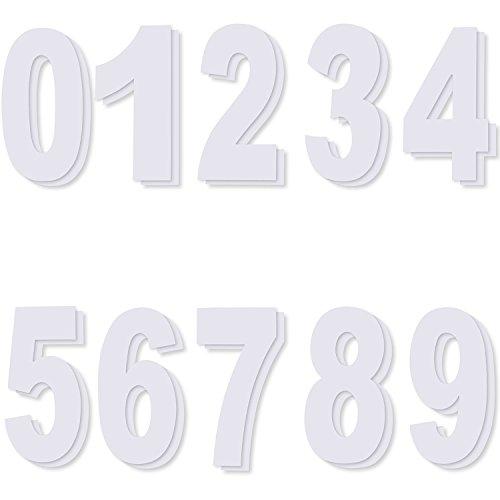 Türen Große Garage, (Wheelie Bin Nummer Aufkleber, Selbstklebende Zahlen von 0 bis 9, Jede Anzahl 2 Stücke)