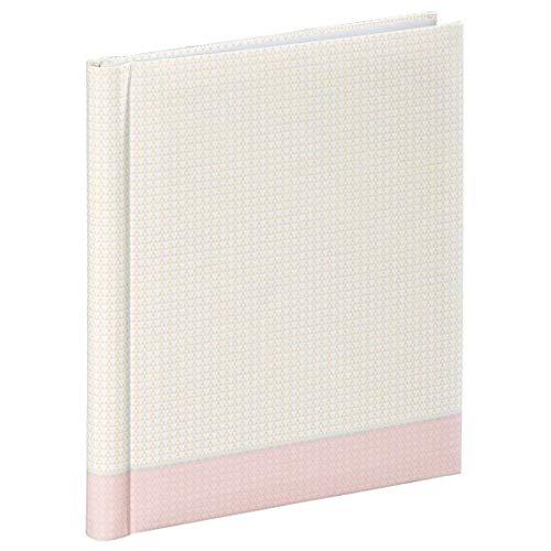 """Hama Selbstklebe-Album \""""Filigrana\"""" (Fotoalbum mit 20 weißen Seiten, selbstklebend, für 40 Fotos im Format 10x15, Albenformat 24x29cm) Fotobuch pastell-rosa"""