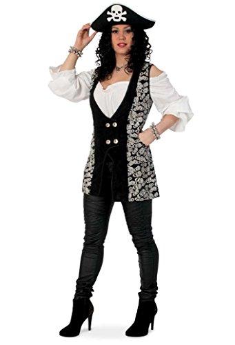 Damen-Kostüm PIRATEN-WESTE SKULL Gr. 36 40 (Weste Piraten)