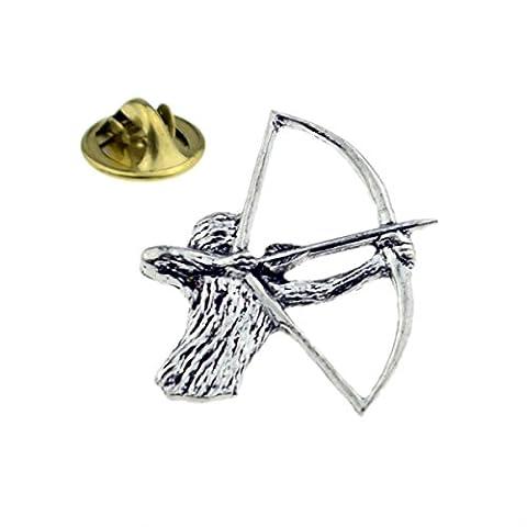 Archery, Bowman, Archer Pewter Lapel Pin Badge (XTSPBC23)