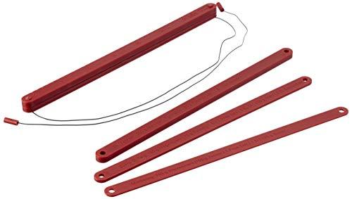 Birkmann Teigstäbe Rot 3 Paar: 3, 5 und 10 mm, Länge 40 cm