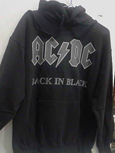 AC DC BACK IN BLACK FELPA UNISEX TG. M felpa AC DC