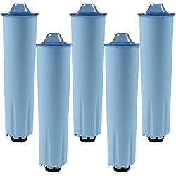 5x Cartouche filtre à eau pour machines à café des Jura Cartouche de filtre (Blue)