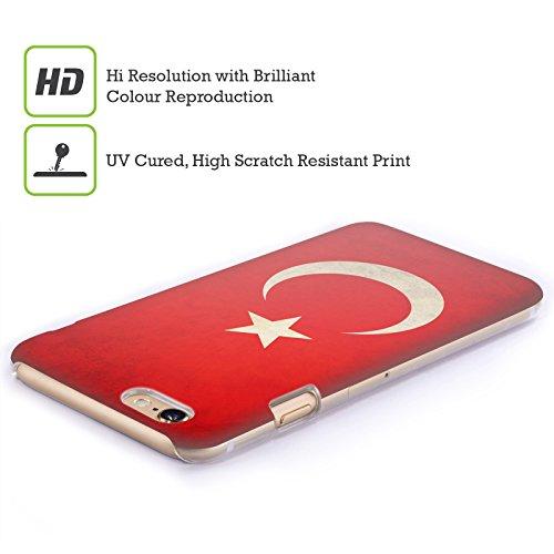 Head Case Designs Türkei Türkisch Vintage Fahnen Ruckseite Hülle für Apple iPhone 6 Plus / 6s Plus Türkei Türkisch