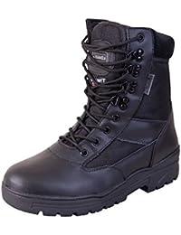 Kombat Britsh Army Style Combat Black Military Patrol Hiking Boot Ta Cadet Work Uk 4-12 - 5 Uk
