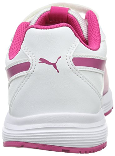 Puma Axis V4 Sl V, Baskets Basses Mixte Enfant Blanc - Weiß (puma White-Beetroot Purple 07)