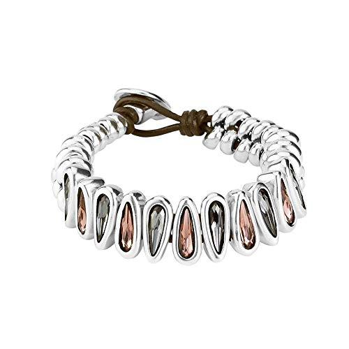 Uno de 50 bracciali link da donna placcato in argento