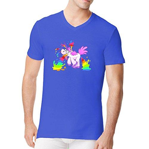 Fun Sprüche Männer V-Neck Shirt - Pink Einhorn Überdosis by Im-Shirt Royal