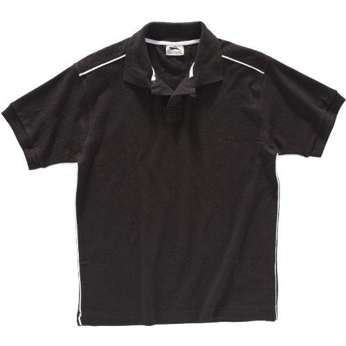 SLAZENGER Polo Backhand noir/blanc