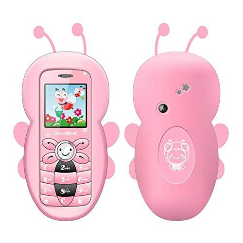 Fulltime E-Gadget Cartoon Handy, Dual-SIM-Karten Deutsch Handy Kinder Student Small BT MP3 (Rosa)