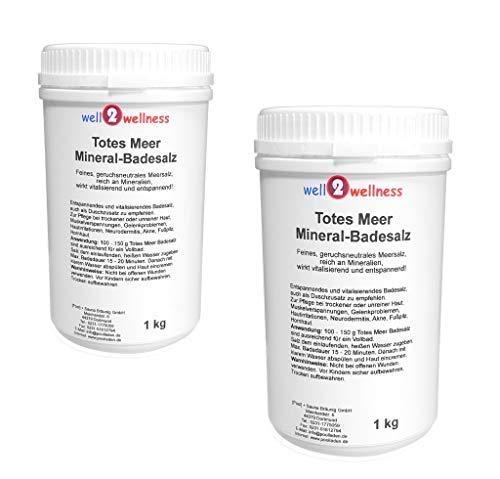 Meer Mineral Badesalz (Totes Meer Mineral Badesalz/Saunasalz grob 2 x 1,0 kg - 100% naturrein aus dem Toten Meer)