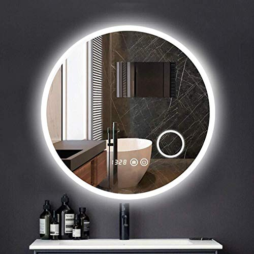 QZ Montado en la Pared del LED con luz Espejo de baño Espejo de Pared - Maquillaje Regulable Espejo...