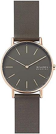 Skagen Women's Quartz Watch, Analog Display and Leather Strap, SKW