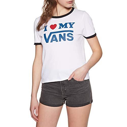 Vans Love Ringer Womens Short Sleeve T-Shirt X Large White Black