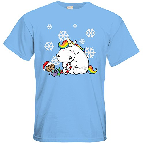 getshirts - Pummeleinhorn - T-Shirt - X-Mas Sky Blue