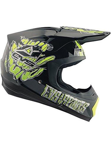 EVS Schwarz 2018 T5 Egon Mx Helm (X-Large, Schwarz) (Evs Helm)