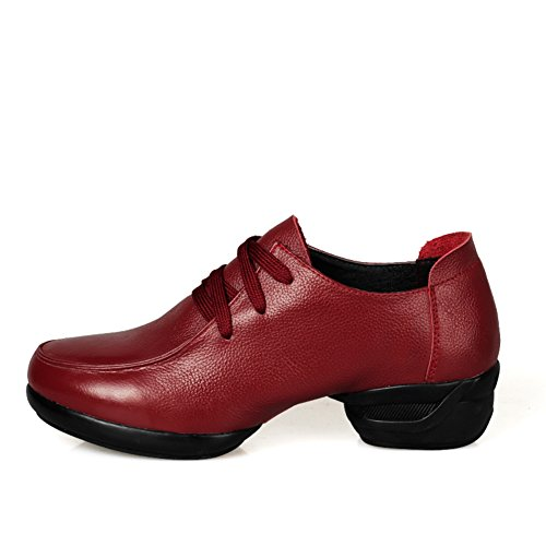 Scarpe Donna Moderna/scarpe da ballo quadrati/fondo morbido/scarpe jazz traspirante B