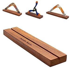 Australian Treasures - Boomerang Stand: Robustes Hartholz und handgefertigter...