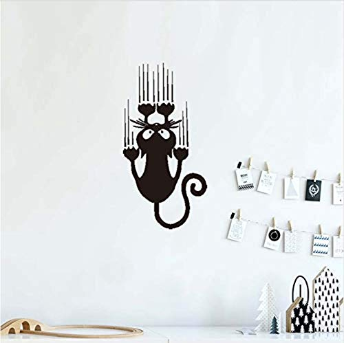 living room wall stickers flowersCartoon climbing cat Halloween party art decal vinyl wall stickers children bedroom modern home decoration detachable waterproof wallpaper 25x50cm