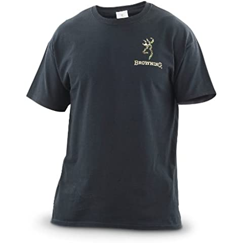 Browning Buckmark de camuflaje camiseta para hombre