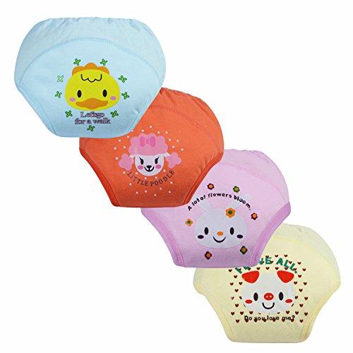 4Pcs Baby Training Pants – LOSORN ZPY Kinder Unterwäsche Unterhosen Trainerhosen Töpfchentraining,mehrfarbig(02),Gr.100