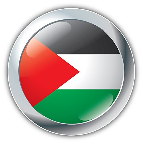 Palestine World Flag Glossy Label Art Decor Vinyl Sticker Aufkleber 12 x 12 cm