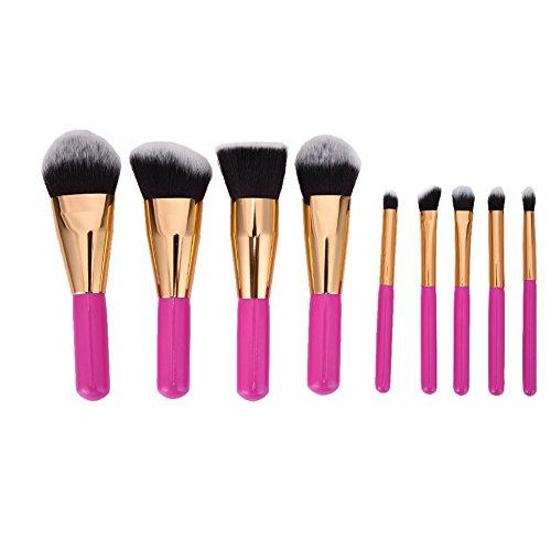 LianLe®9pcs Kit de Pinceau maquillage Professionnel Ombre à Paupière Argenté Blush Fondation Pinceau Poudre Fond de teint Anti-cerne Kit Pinceaux