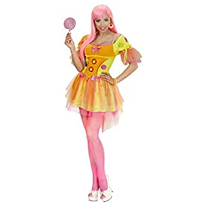 WIDMANN 49404?Adultos Disfraz Neon Fantasy Girl, Vestido, Amarillo, Tamaño XL