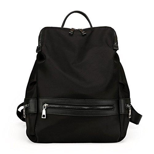 Frauen Nylon Schultertaschen Im Freien Reisetasche Black