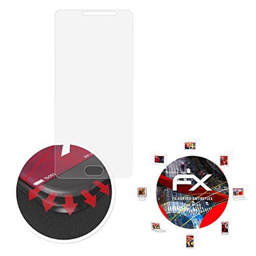 atFolix Schutzfolie passend für Wiko U Feel Fab Folie, entspiegelnde & Flexible FX Bildschirmschutzfolie (3X)