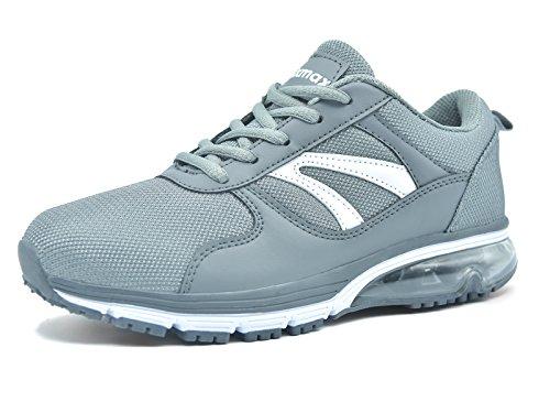 Knixmax Damen Sportschuhe Bequem Turnschuhe Atmungsaktiv Running Sneaker Outdoor Fitnessschuhe Leicht Laufschuhe EU 38-(UK 5) Grau