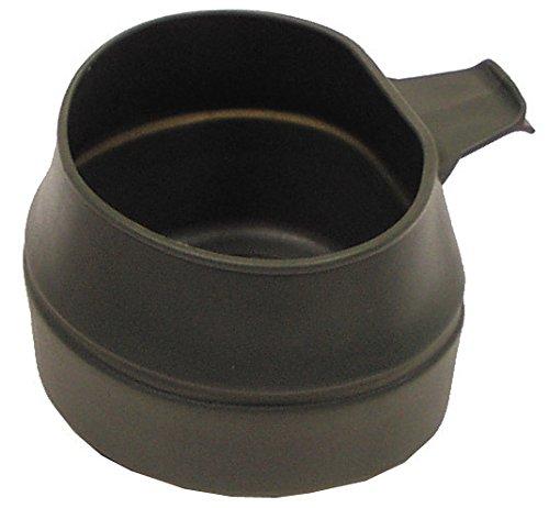 Kunststoff Faltbecher, oliv Folding Cup