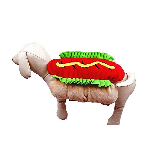 Kostüm Hamburger Hunde - FZ FUTURE Halloween Haustier Pullover, Halloween Haustier Mantel, Herbst und Winter warm halten, Nettes Cosplay, für Party Weihnachten Special Events Kostüm, Hamburger,L