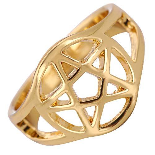 TEAMER Wiccan - Anillo pentáculo Witchcraft Pagan