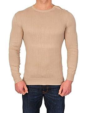 Zanone Suéter Hombre Beige normal algodón negocios 52
