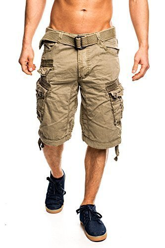 Geographical Norway Hommes Cargo Shorts People - Mastic, Homme, L