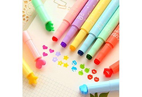 buycrafty 3Cute Candy Farbe kawaii Textmarker Tinten Stempel Pen Creative Marker Pen Schulbedarf...