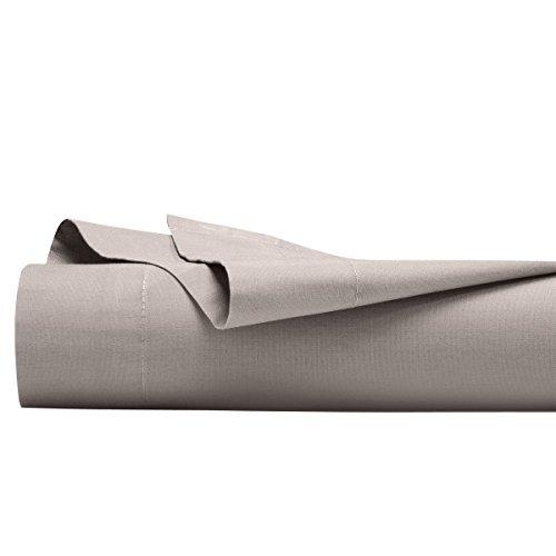 Drap plat Percale pur coton Perle 80 fils/cm² uni 180 x 290 cm