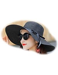 Sombreros de Playa de Verano para Mujer Sombrero de Ola Sombrilla Sombrero  de Paja para Mujer 4d5dc77c632