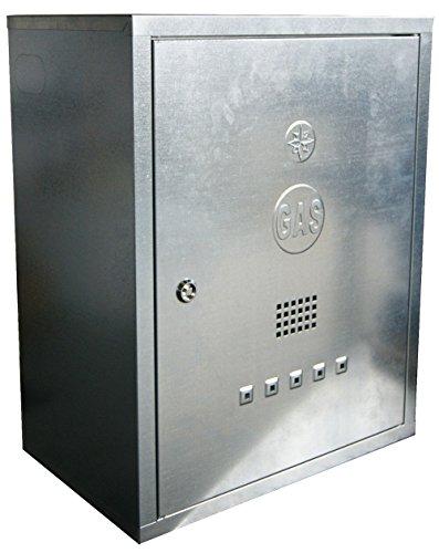 Top-box Mit Rückenlehne (MISTERMOBY KÄSTCHEN FÜR GASZÄHLER VERZINKTER STAHL BOX MIT SCHLÜSSEL 60X50X25 CM)
