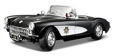 1957 Chevrolet Corvette [Maisto 31380], State Highway Patrol, 1:18 Die Cast