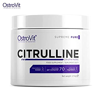 CITRULLINE 210g Pure Unflavored | Pharmaceutical Grade Quality | Non-Stimulant Pre-Workout Booster | Nitric Oxide NO Boost | Sport Supplement | Muscle Pump & Growth | Citrulline Malate Powder from Ostrovit Nutrition