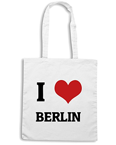 T-Shirtshock - Borsa Shopping TLOVE0016 i love berlin (3) Bianco